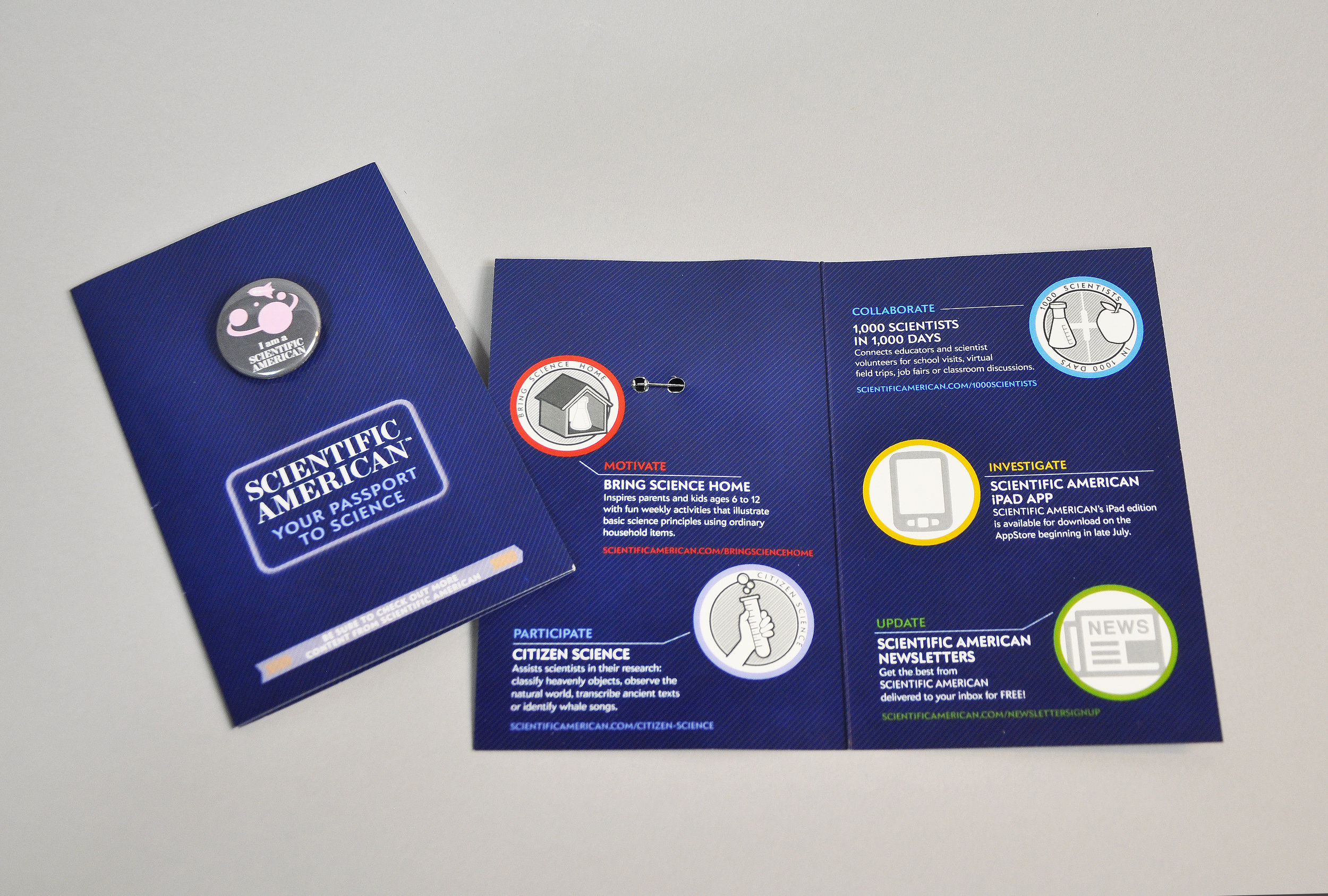 Passport Button Brochure open