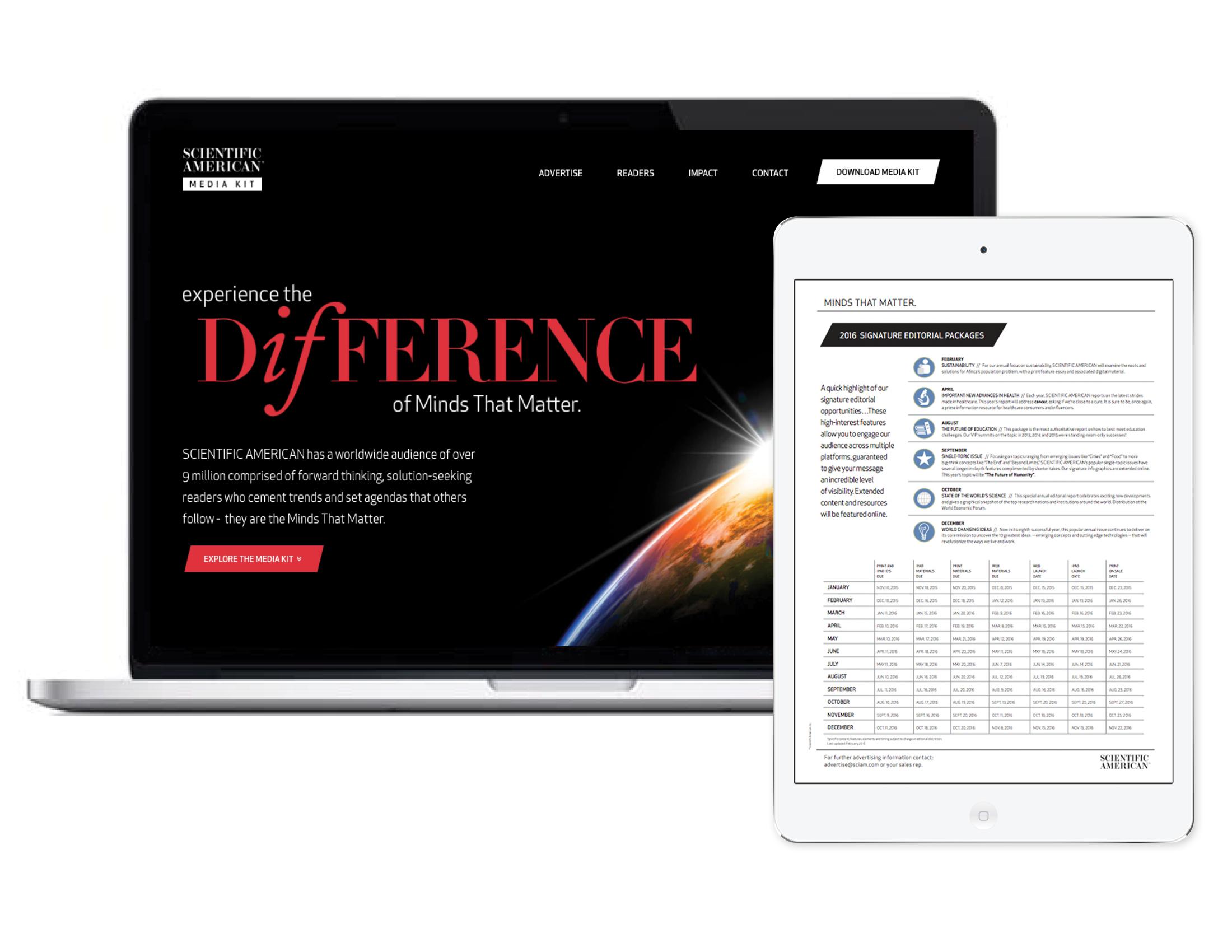 Scientific America Media Kit Homepage