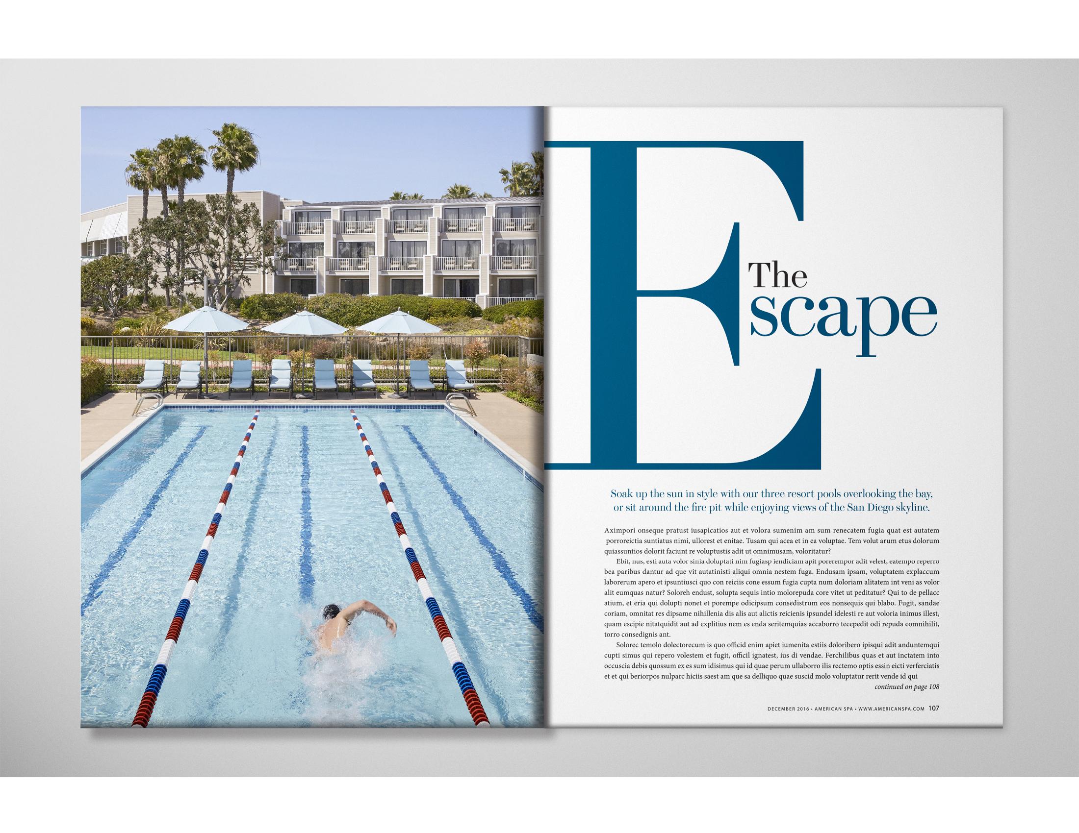 Double spread design for magazine