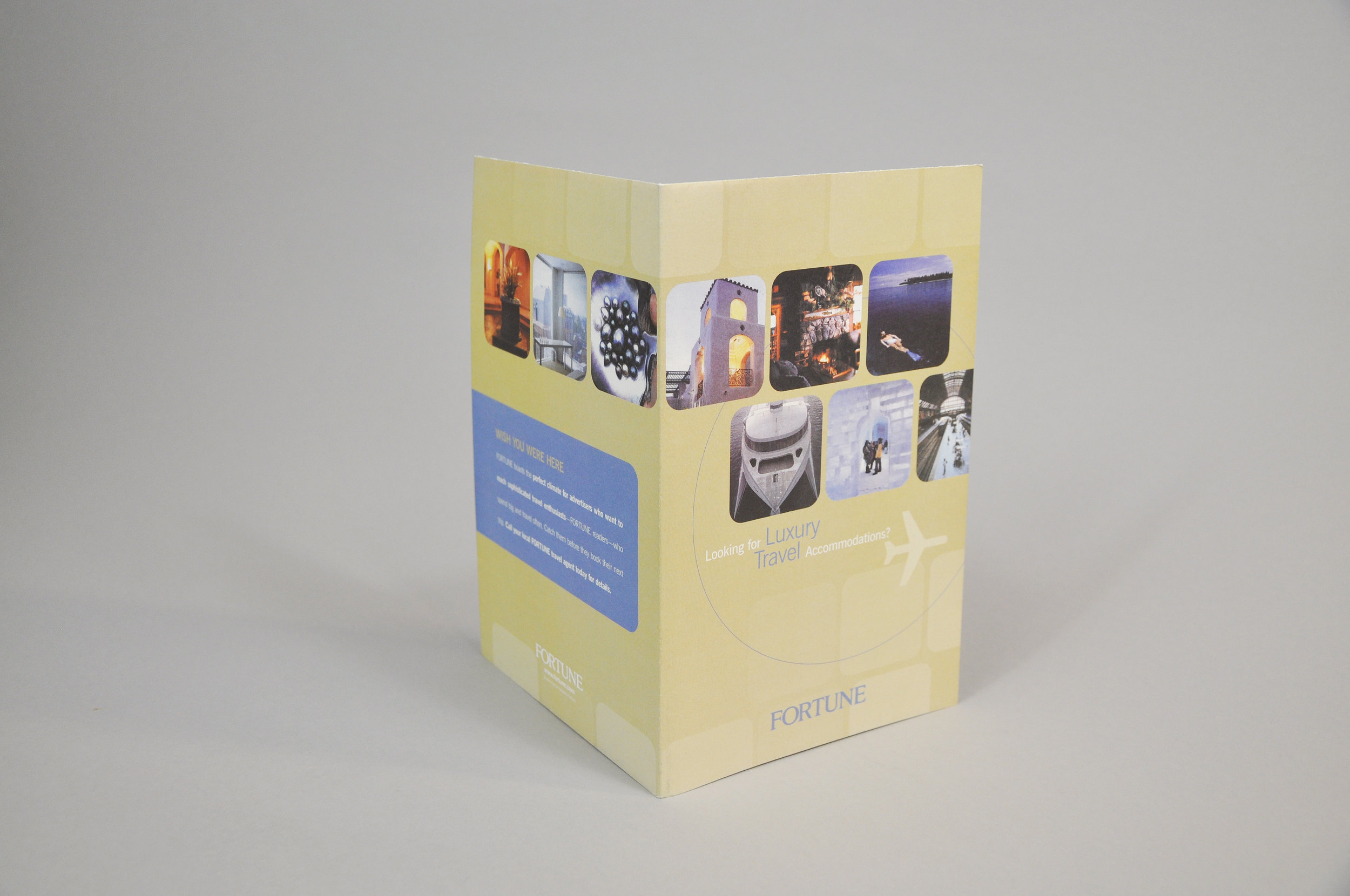 Travel Brochure front and back cover design