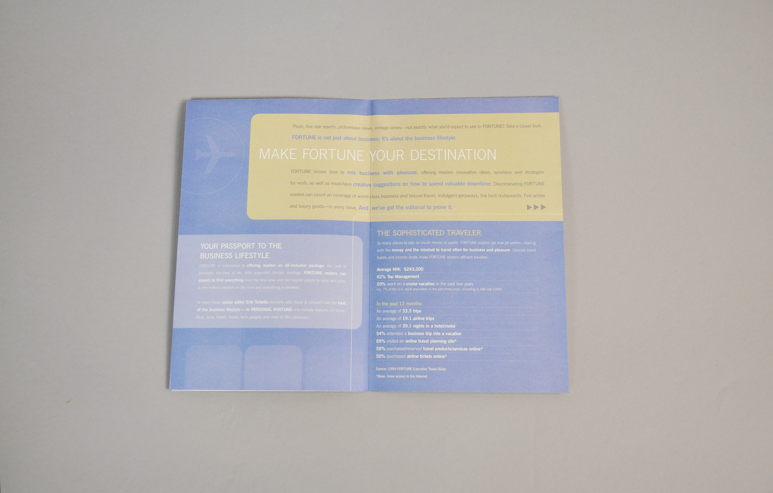 Travel Brochure double page spread design