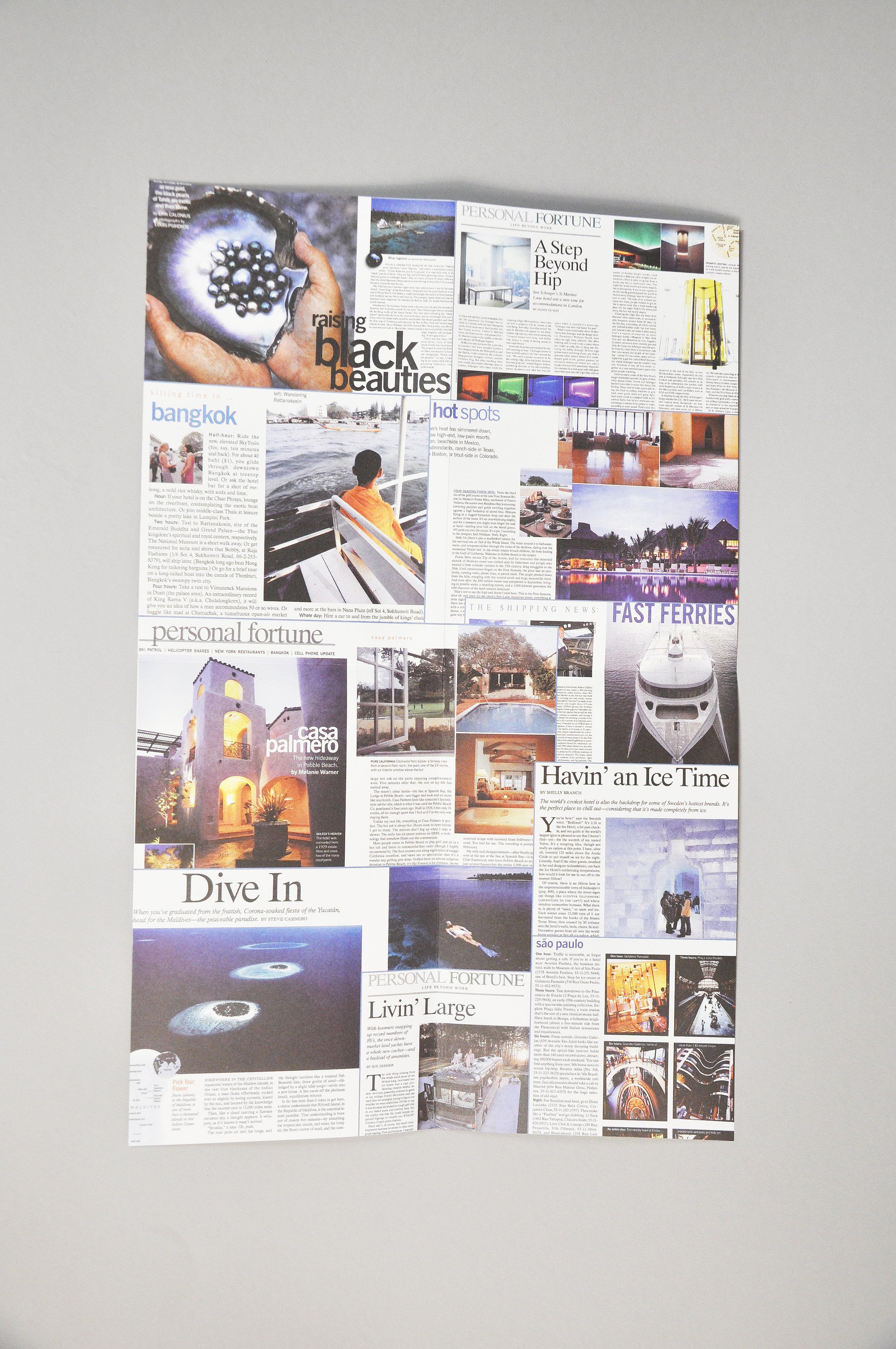 Travel Brochure single page spread design