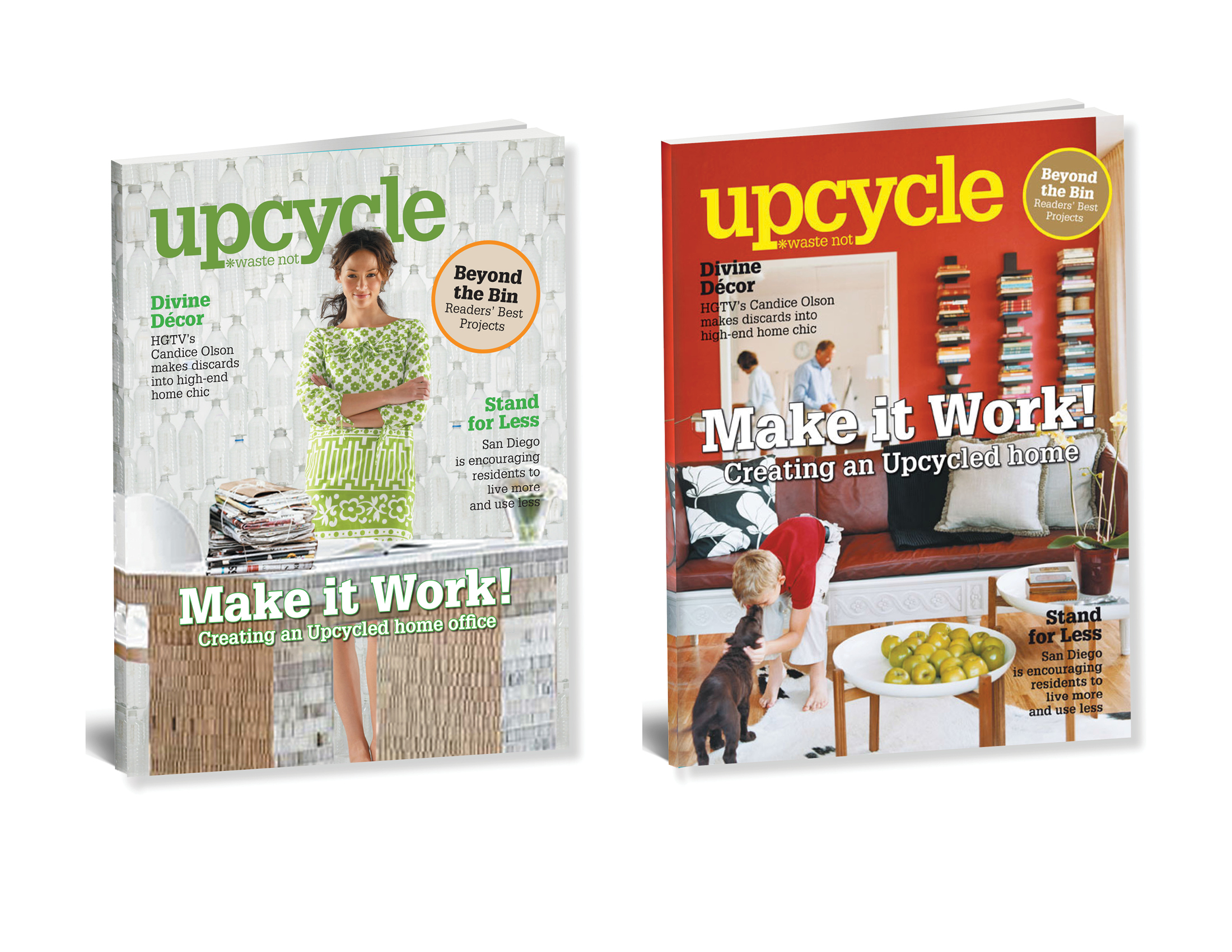Upcycle magazine cover designs