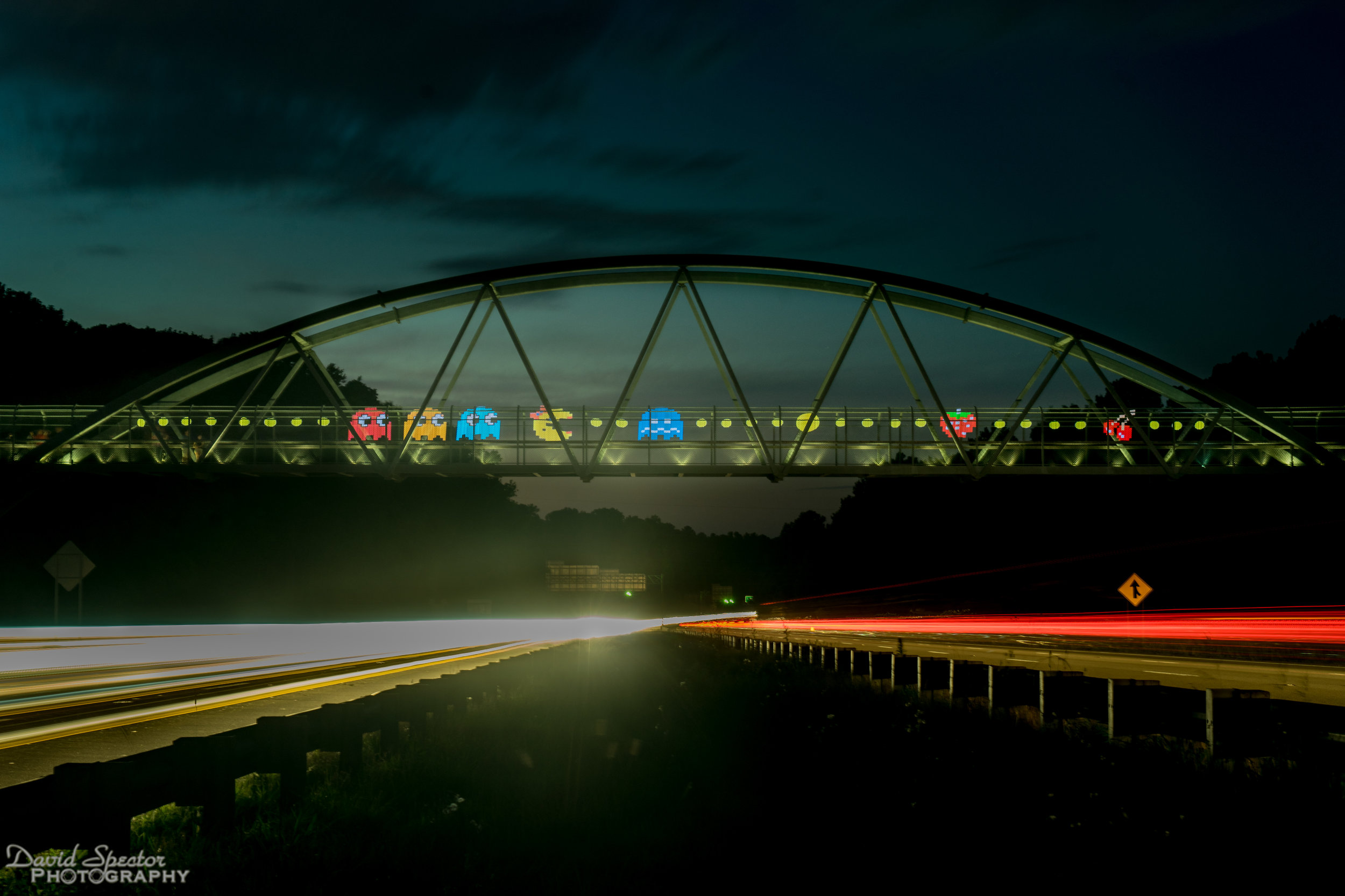Johnny and I wanted to light paint at this bridge for a while. PacMan anyone?