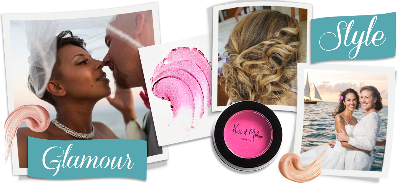 Banner image of people on their wedding day. Hair and Makeup services provided by Key West Hair and Makeup.