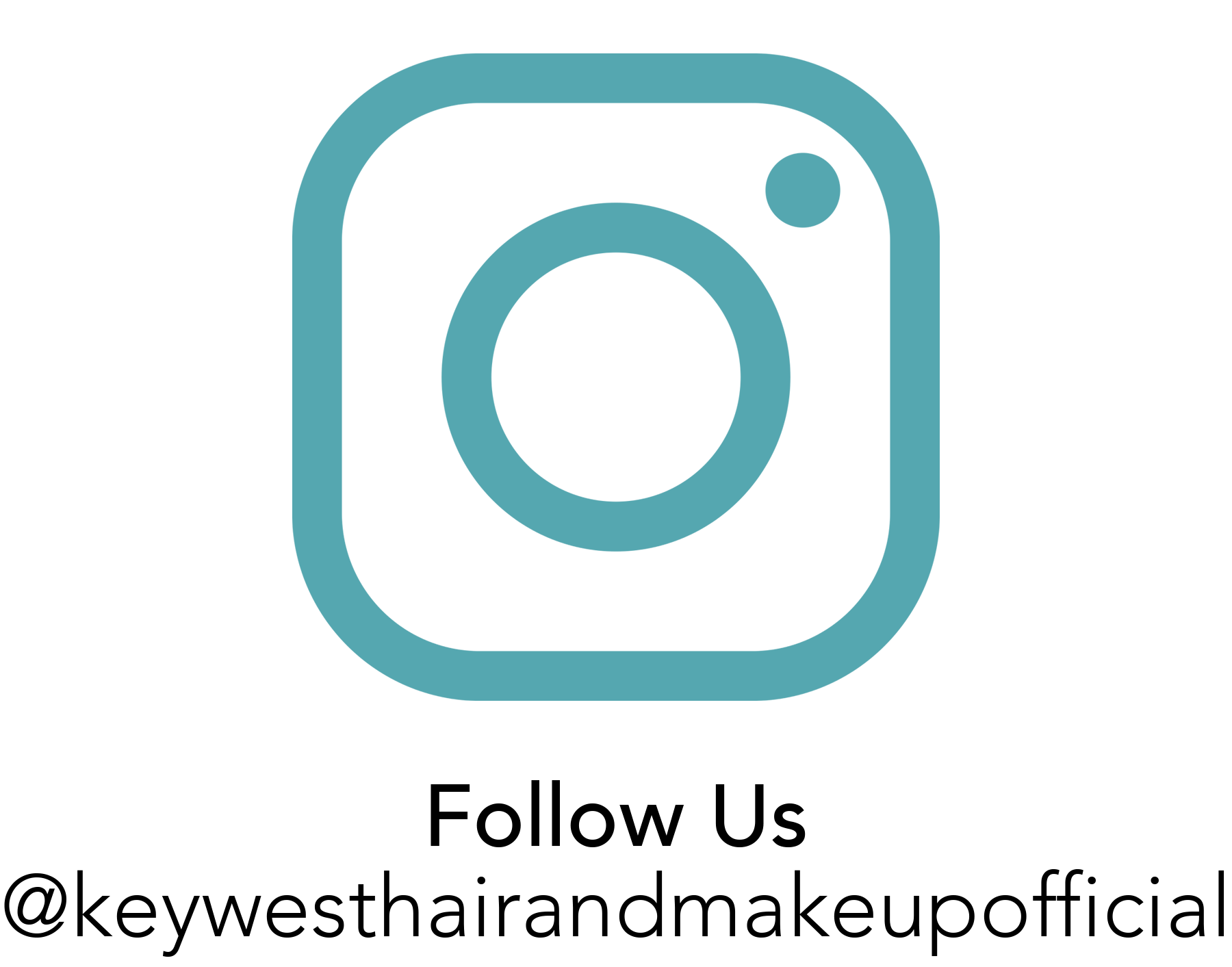 Image of Instagram logo. Follow us at KeyWestHairAndMakeupOfficial account.