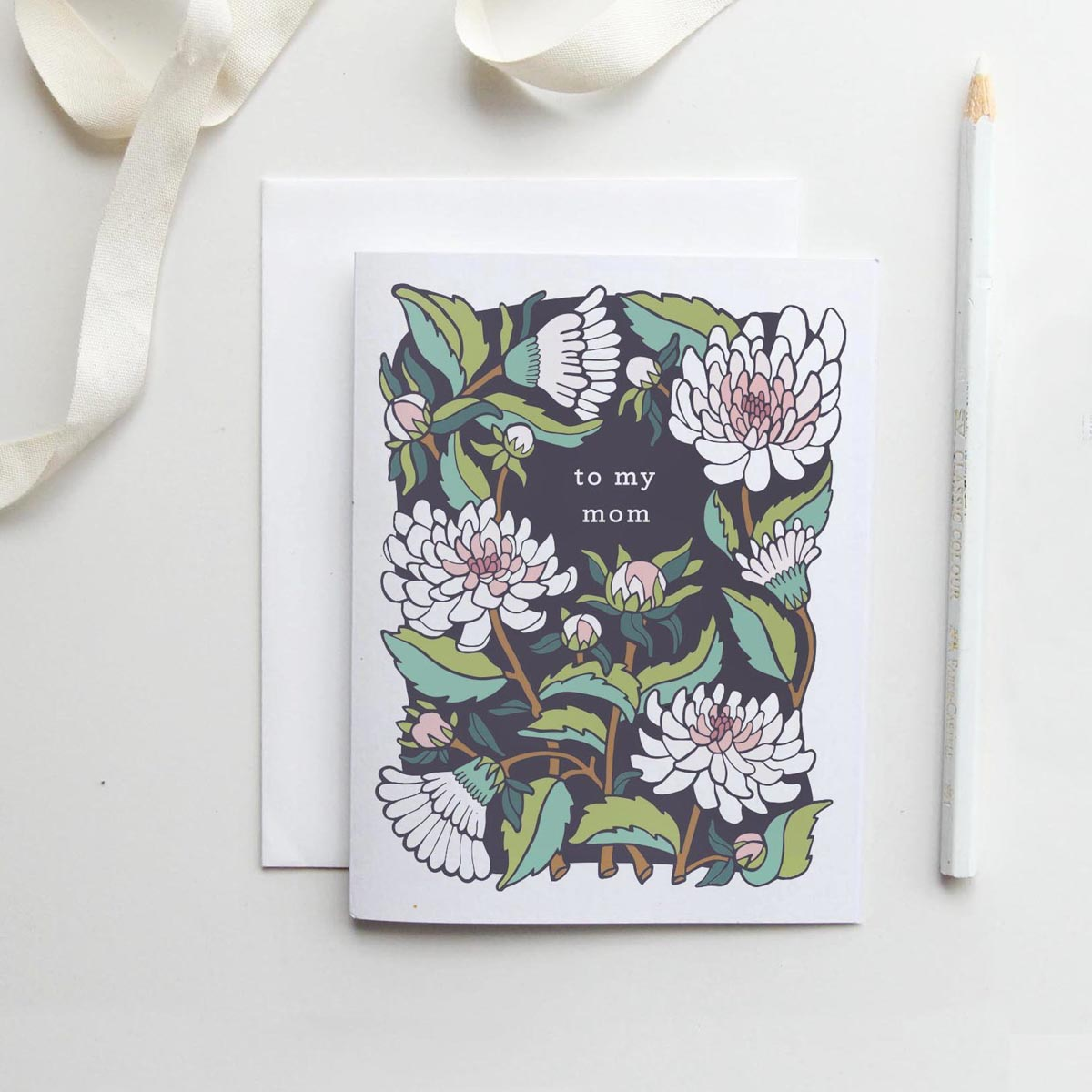 Root & Branch Paper Co //  To My Mom Card in Dahlia