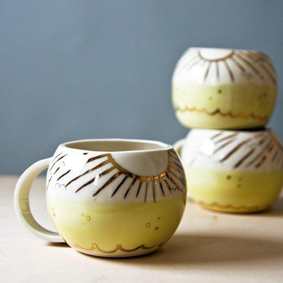 Karo Art //  Sunny Places Handmade Ceramic Mug