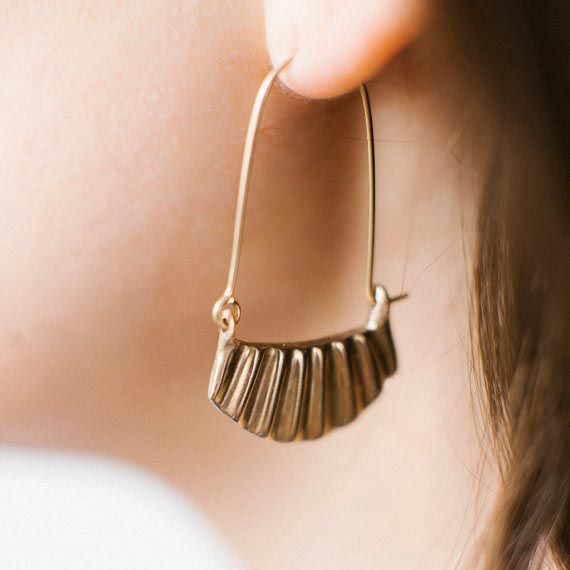 Sarah Safavi Jewelry //  Lines Bronze Earrings