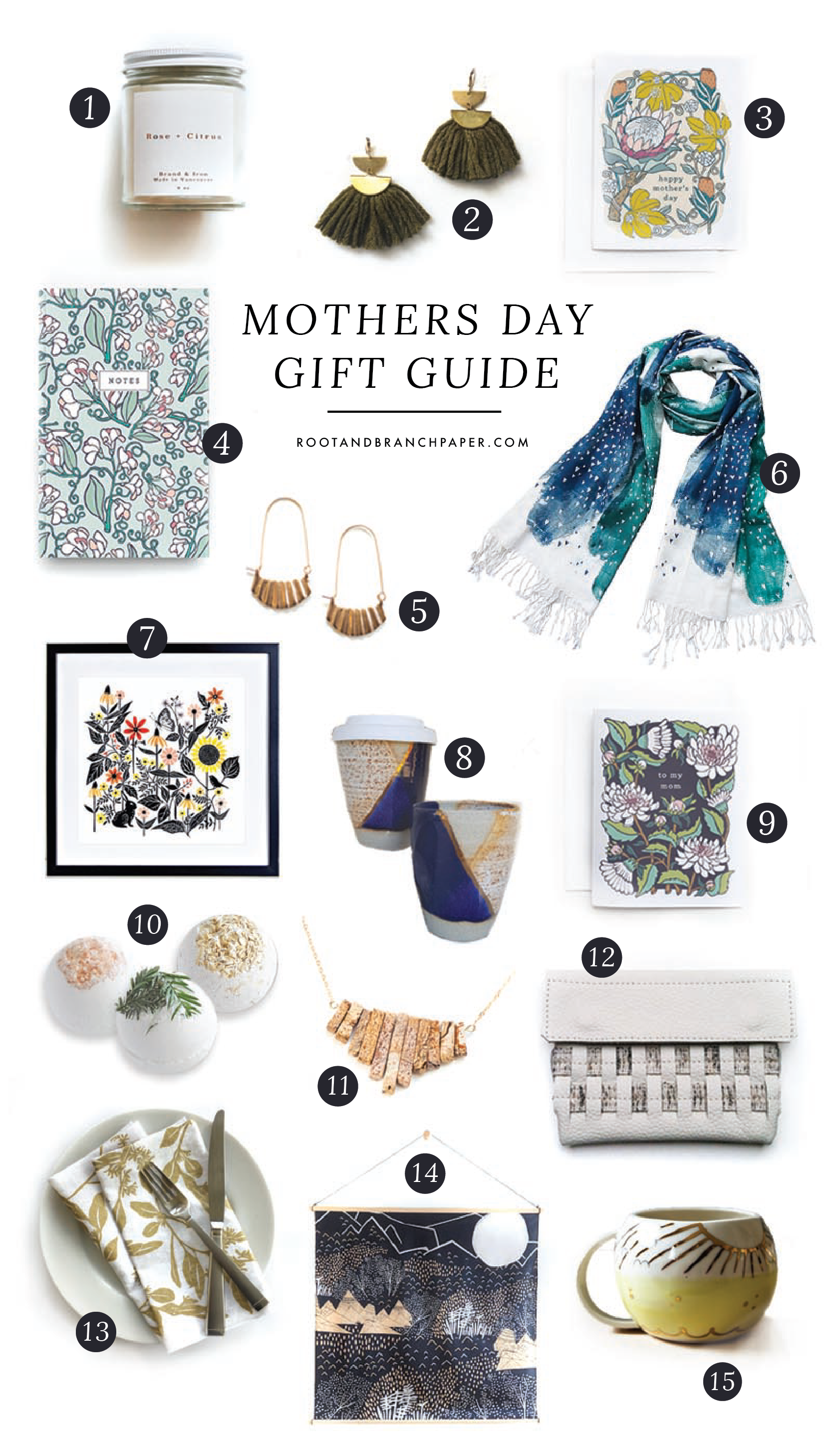 The Ultimate Etsy Mother's Day Gift Guide // Root & Branch Paper Co. Blog