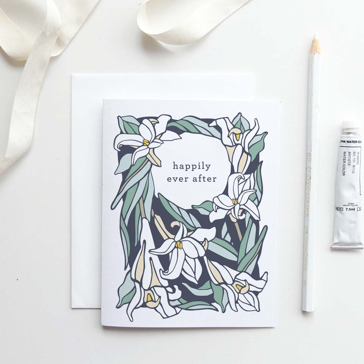 Our  Happily Ever After  card in Babiana