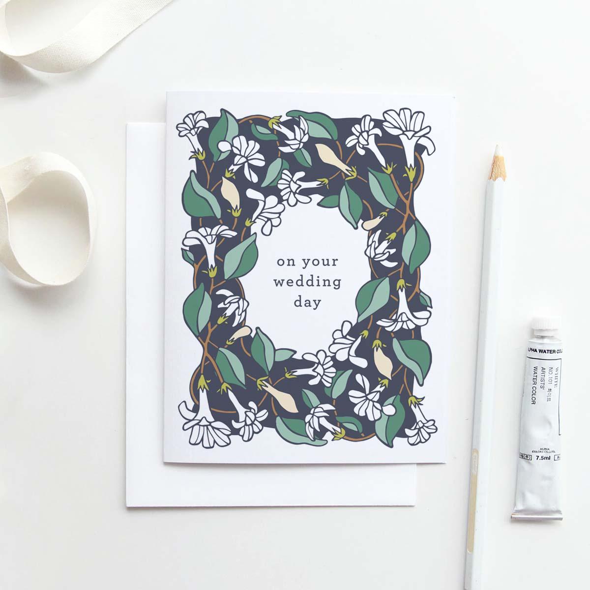 Our  Honeysuckle wedding day  card