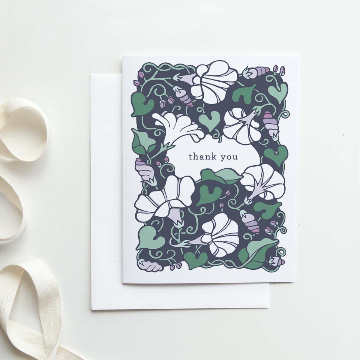 Our  Morning Glory Thank You  card