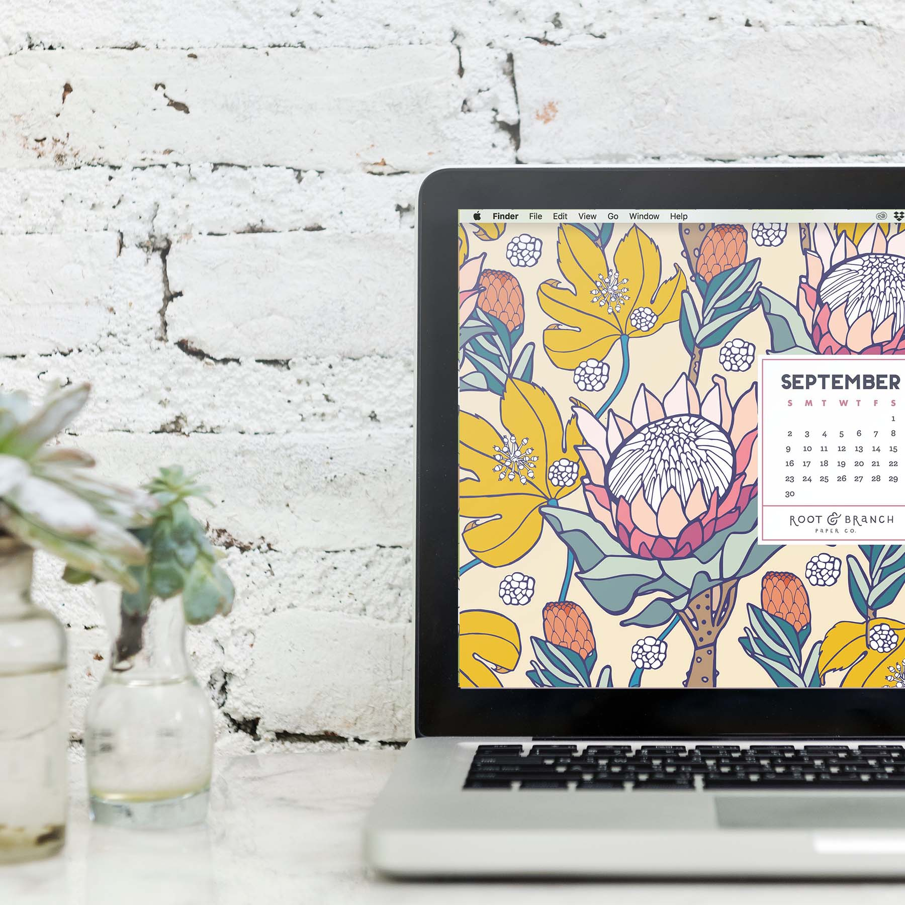 Free Digital Wallpaper September 2018 Calendar Root Branch