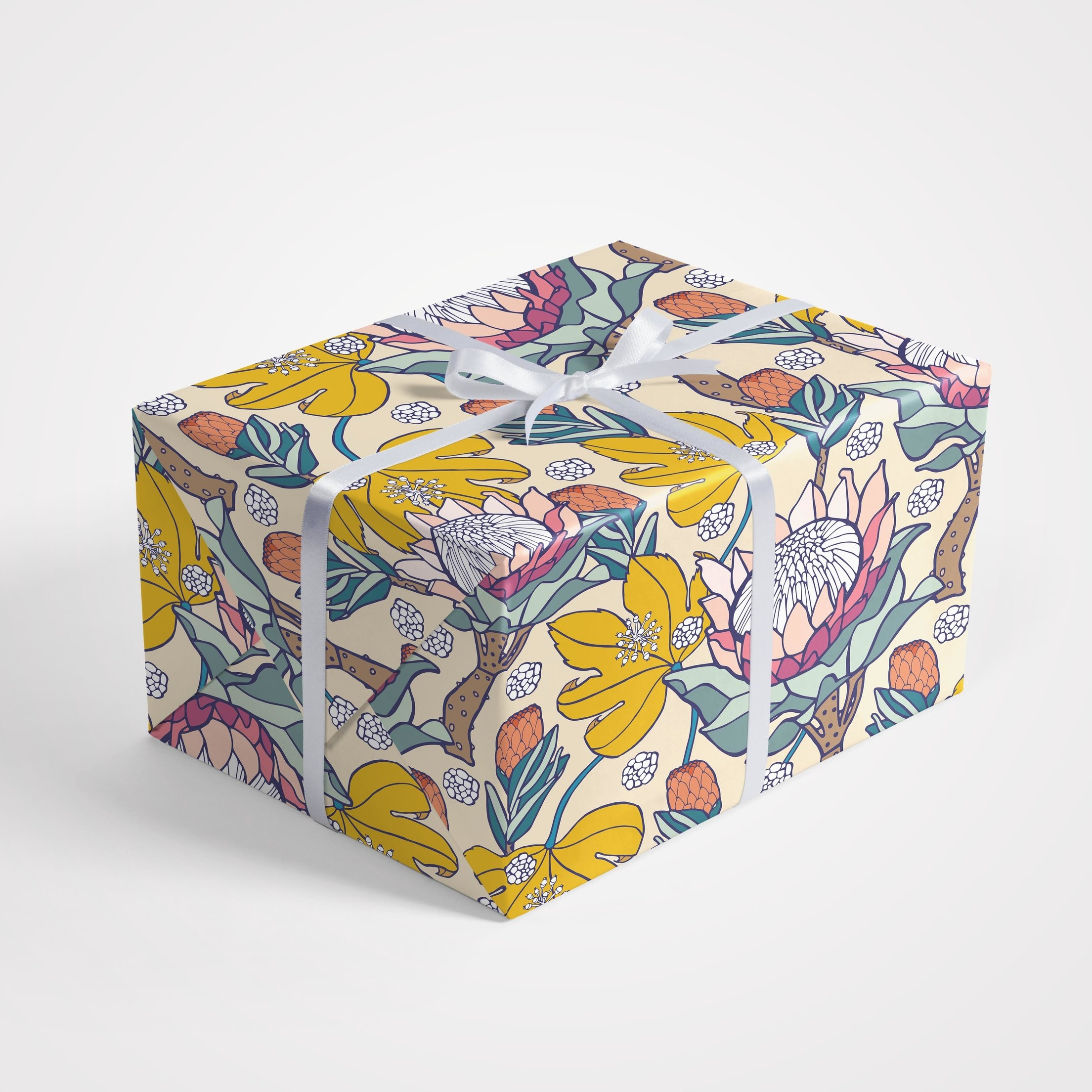 Pink Ice Protea Gift Wrap