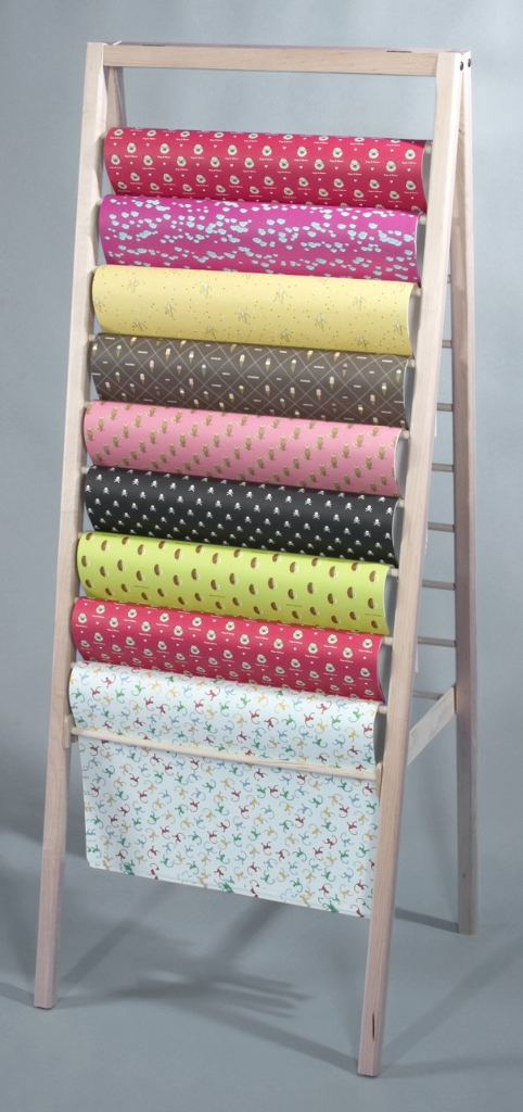 Wrapping Paper Ladder Display from Clear Solutions