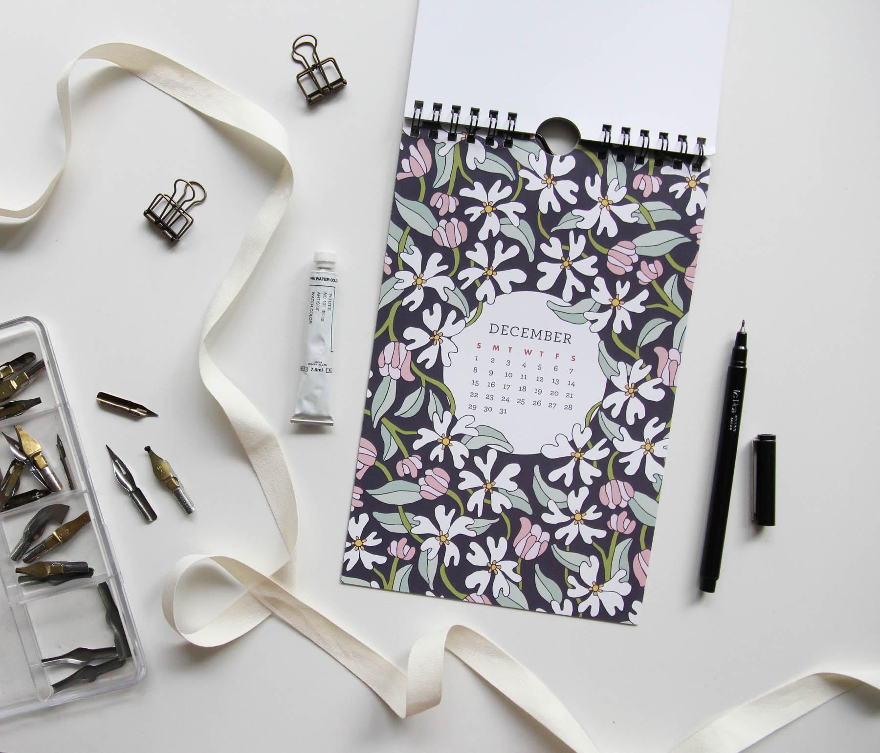 Moonlit Garden 2019 Wall Calendar - Root & Branch Paper Co.