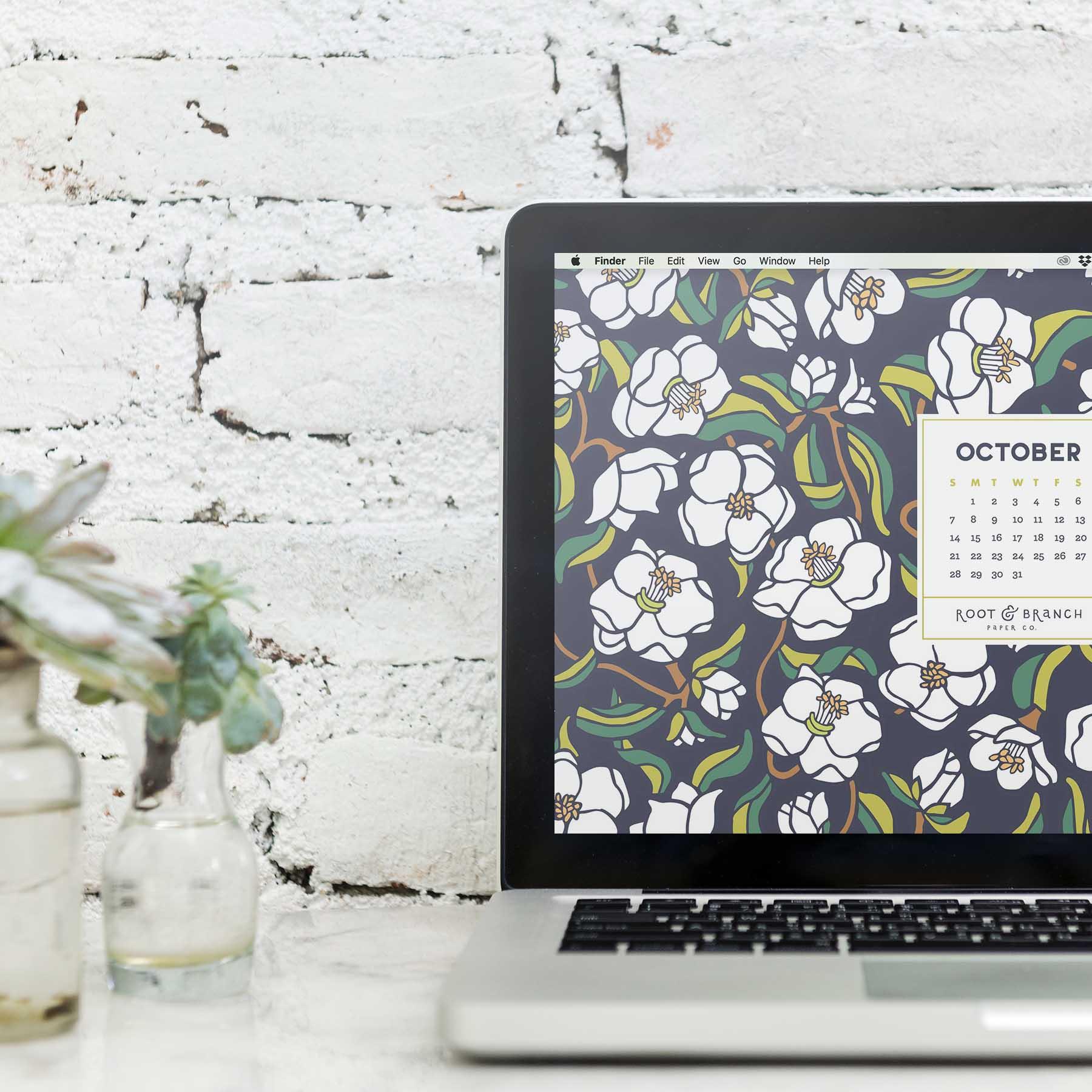 October 2018 Calendar — Root & Branch