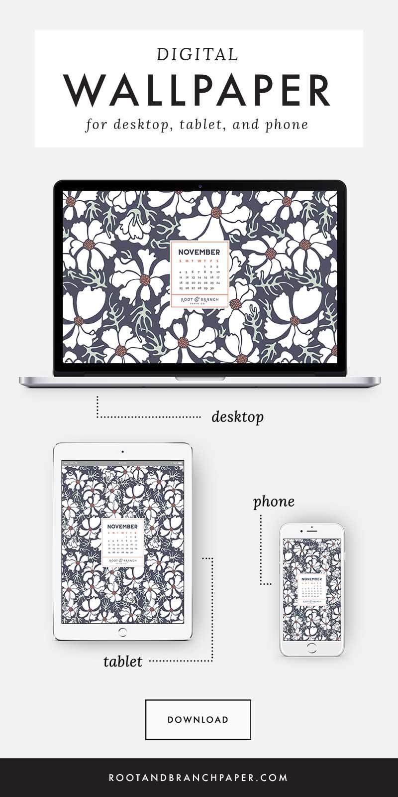 Free Digital Wallpaper November 2018 Calendar Root