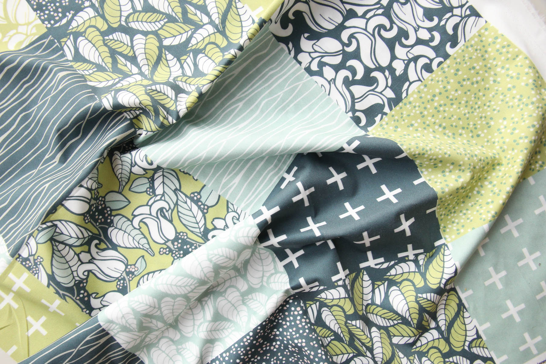 Magnolia Branches: A Surface Pattern Collection, Fabric Design by Jessie Tyree Jenness for Root & Branch Paper Co.