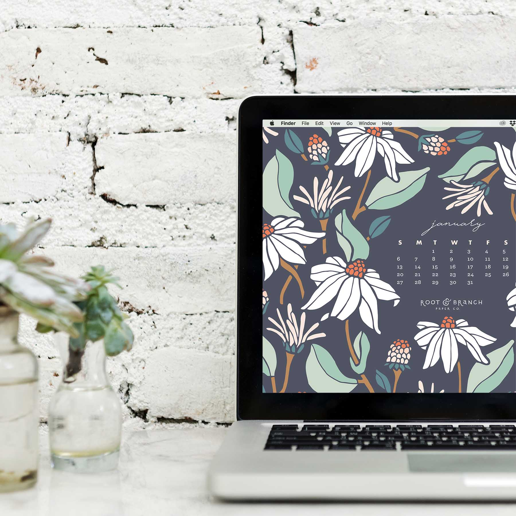January 2019 Calendar A Free Digital Desktop Wallpaper For