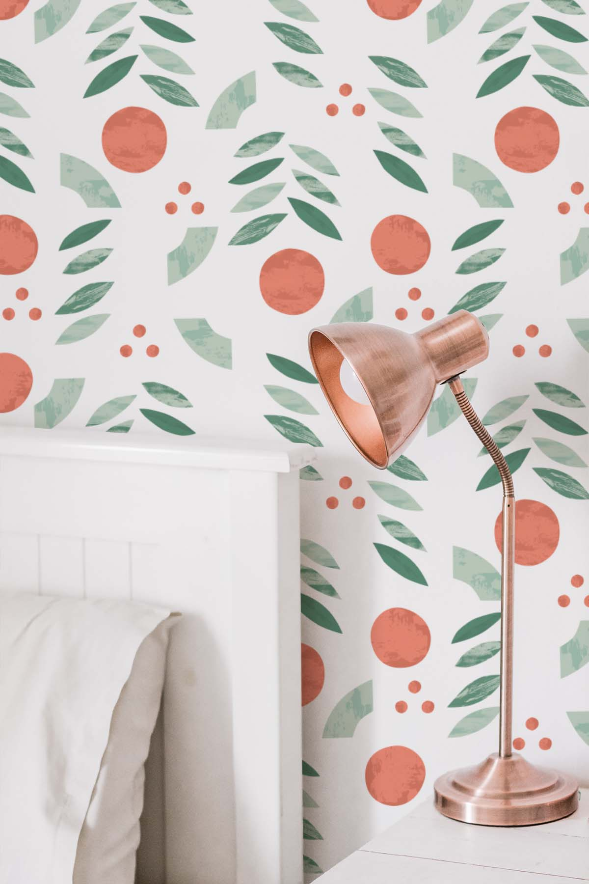 Merry + Bright Abstract Wallpaper - A playful wall makeover solution for any space. Each wallpaper is easy to apply and fully removable, making them perfect for renters, dorms, or an easy change in decor!