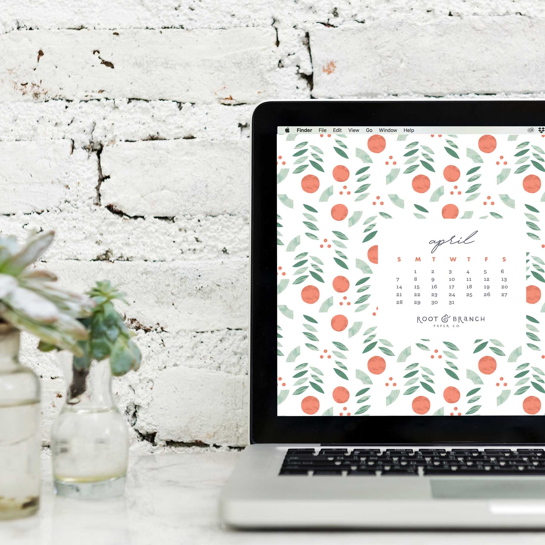 April 2019 Digital Wallpapers from Root & Branch Paper Co