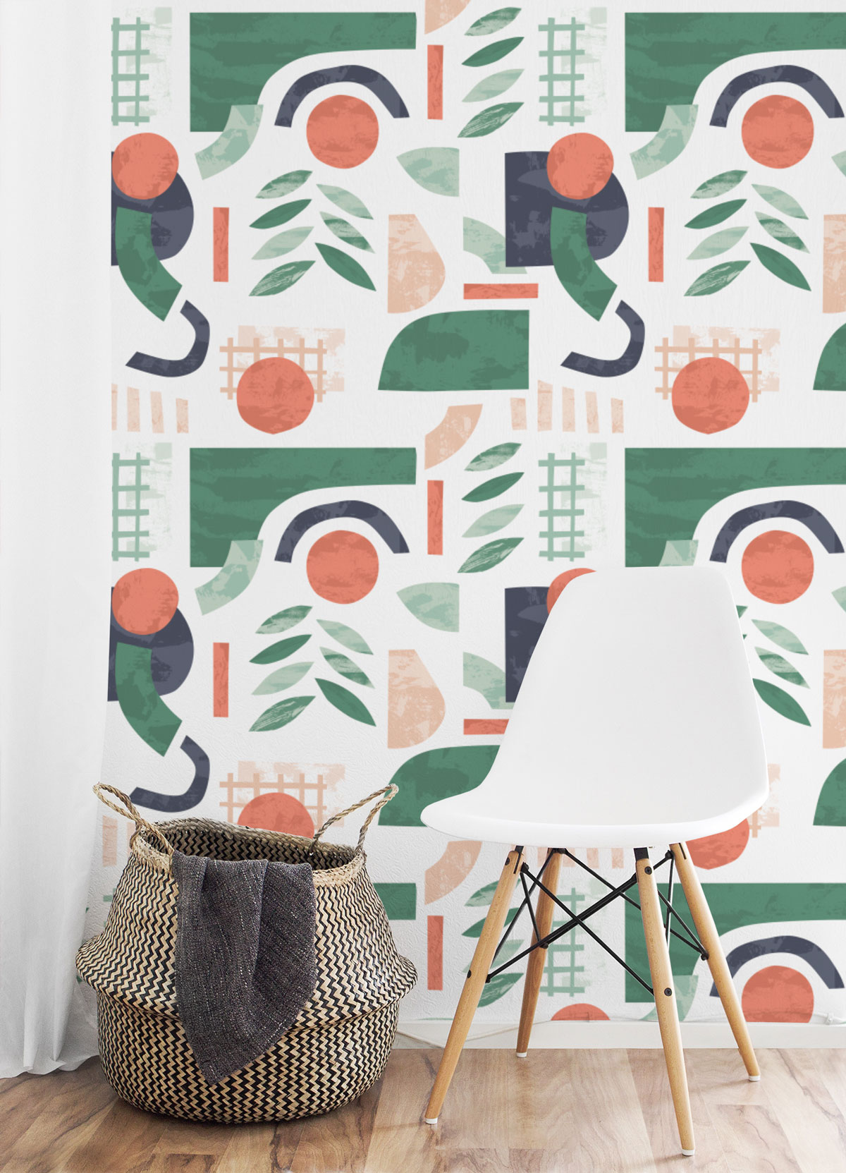 Shake it Up Peel and Stick Wallpaper - A playful wall makeover solution for any space, each wallpaper is easy to apply and fully removable!