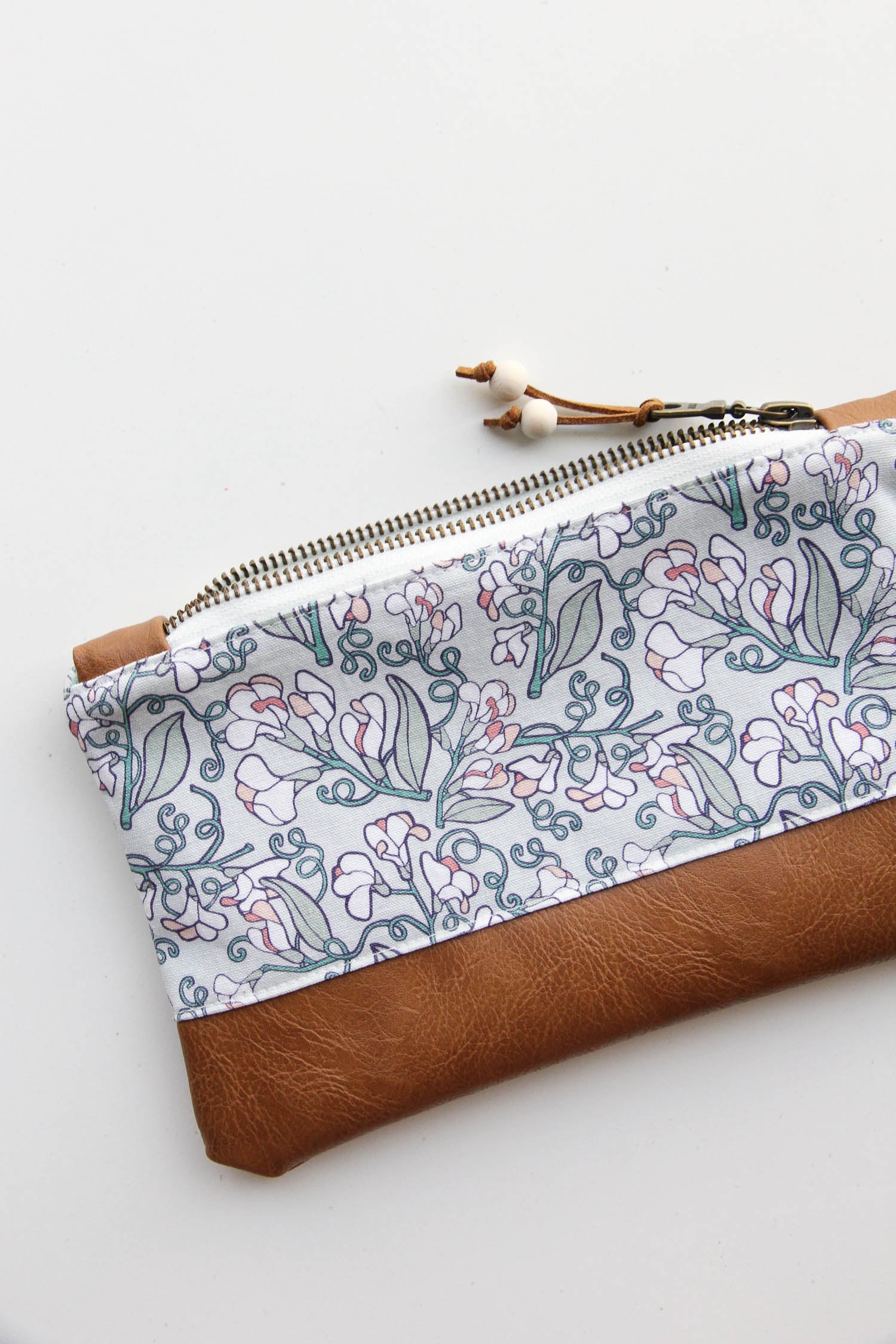 The  Wild Sweet Pea Zip Pouch
