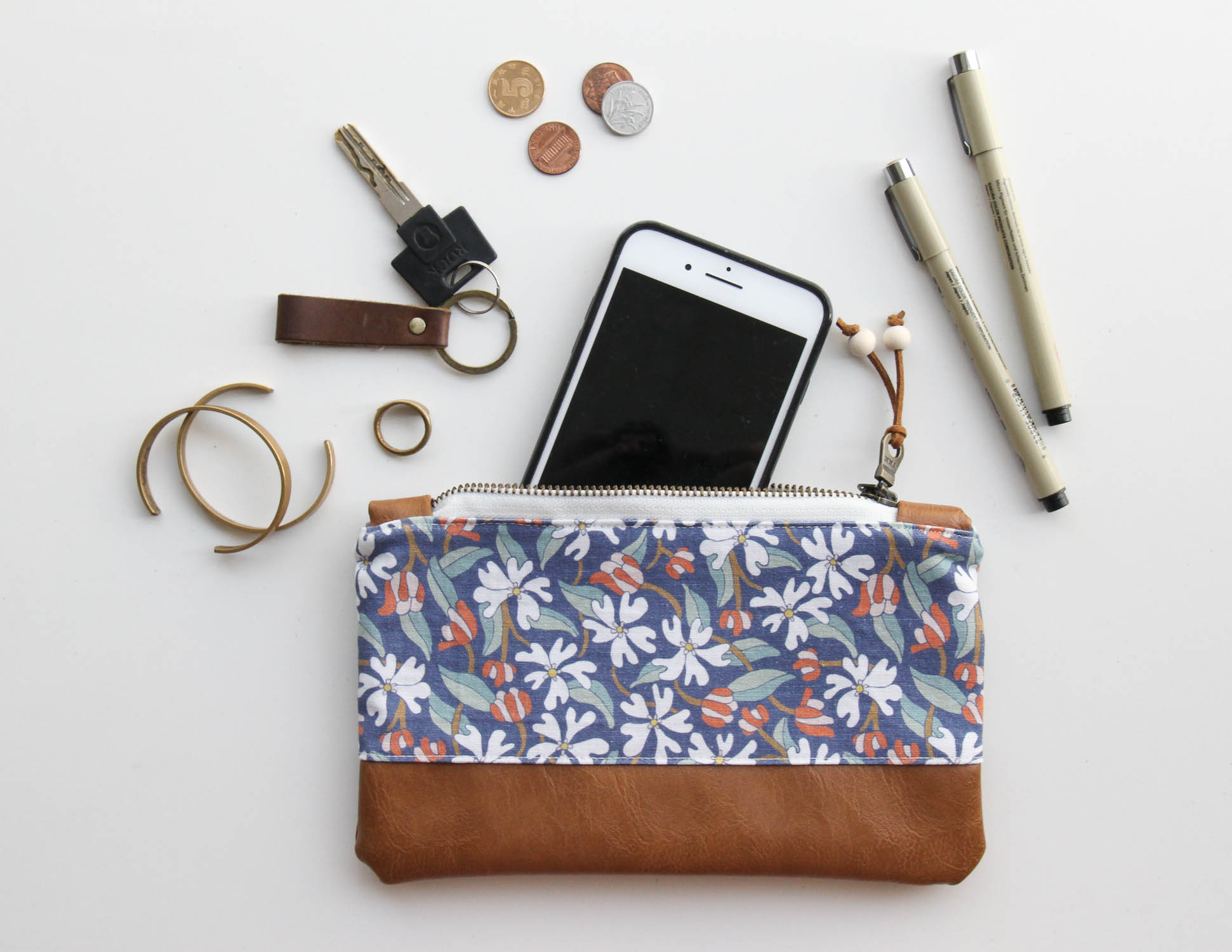 Floral Zip Pouches are available now!