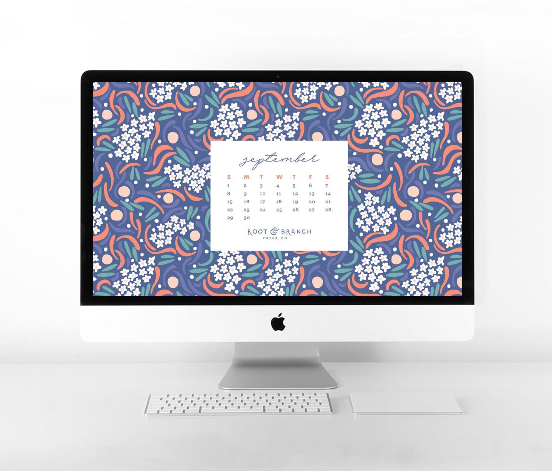 September 2019 Calendar: A Free Digital Desktop Wallpaper