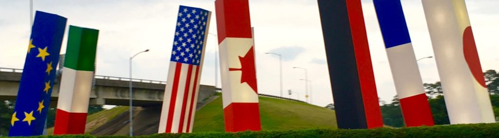 Houston International Airport Flags