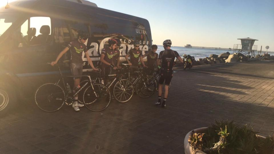 The La Grange Development Team on their 106 mile fundraising ride to Oceanside.