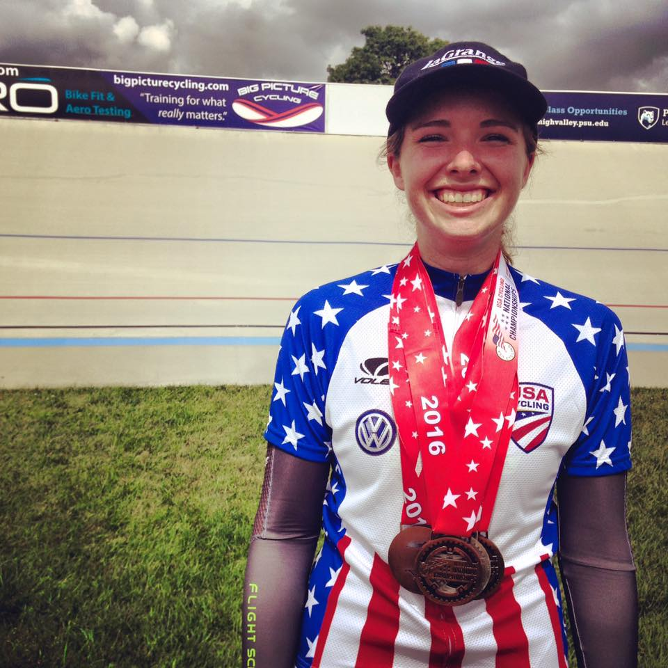 Seven medals, including a gold and national championship, for Ivy Koester at Juniors National Track Championships!