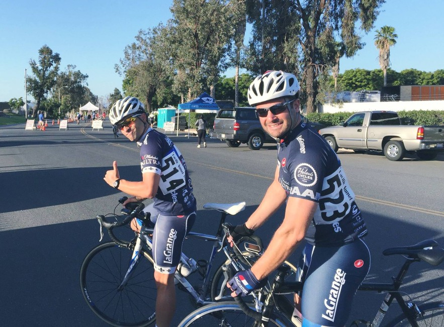 Two of our promising new racers, Johnny Munoz and Francisco Munoz, out at the Jurupa Valley Grand Prix.