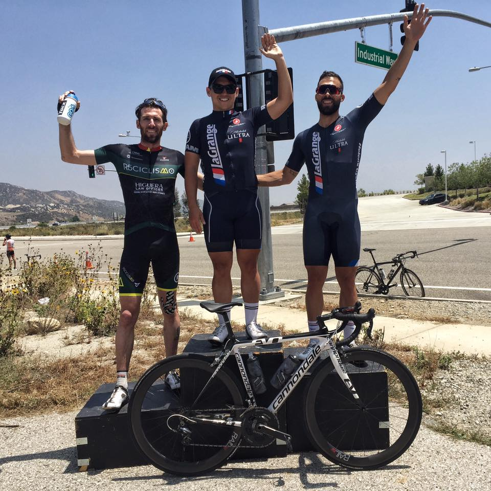 James Brill and Marco Fabrizio go 1-2 in the Cat 3 Rosena Ranch Circuit Race.