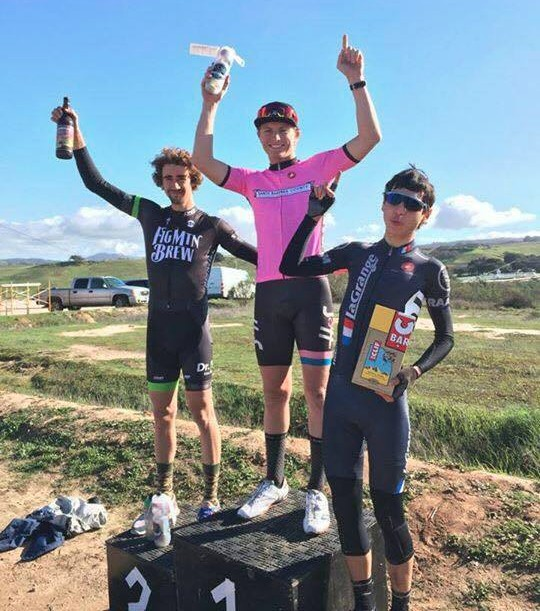 Alex Deroche doubled up with two Cat 5 races and managed the team's only podium on the day.
