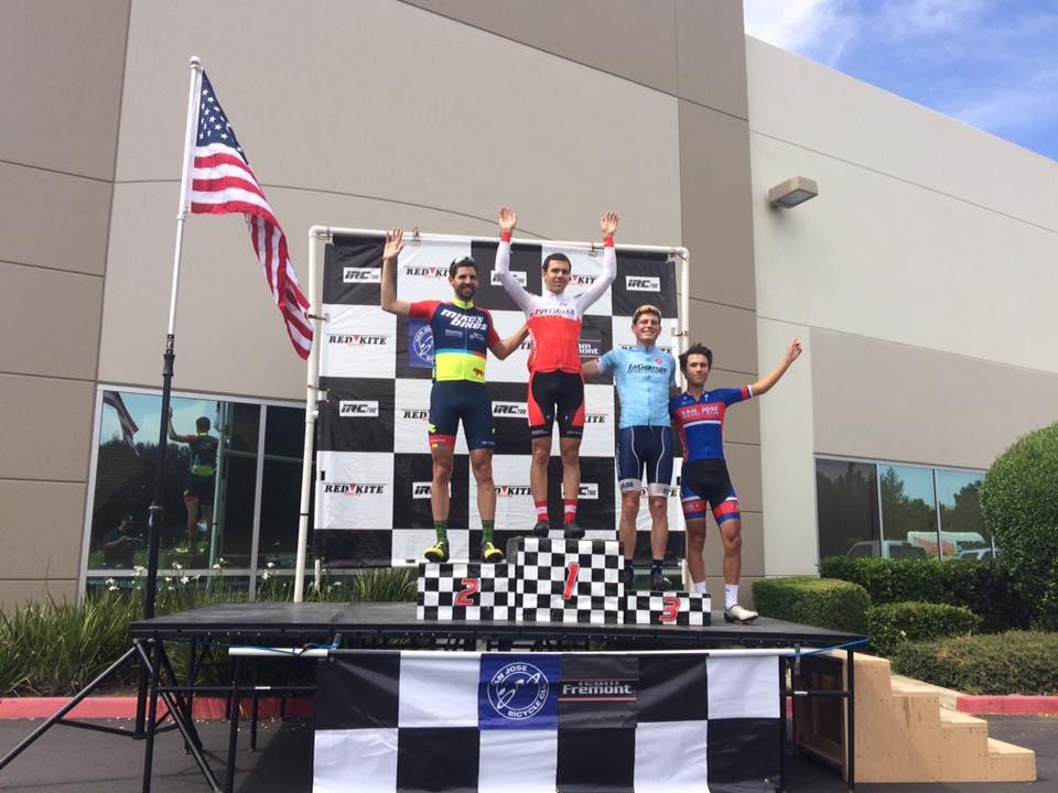 Drew Kogon on the podium at the Memorial Day Classic Criterium!