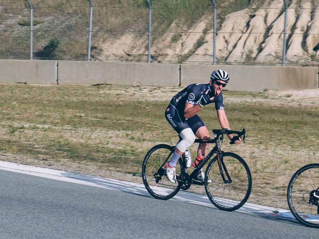 ...while Ryan showed how to get the most out of the Laguna Seca criterium circuit!