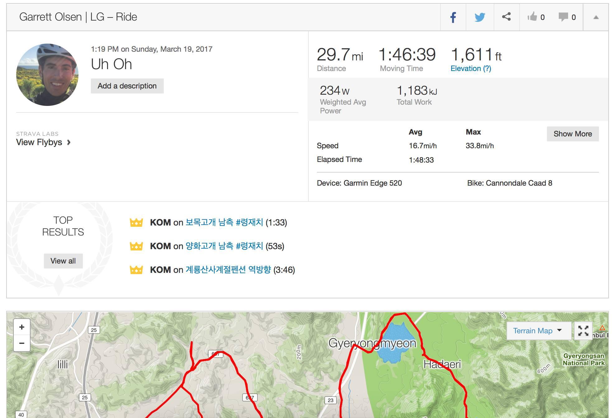Garrett Olsen lost somewhere in Korea - hopefully he makes it back to race for the team soon.
