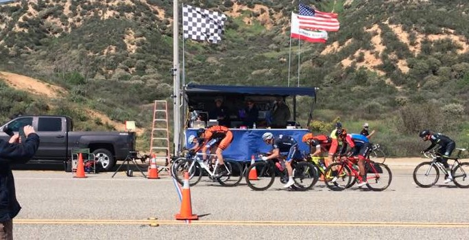 Ethan Frankel in a photo finish 2nd place (should it have been 1st?) at the Cat 3 Rosena Ranch Circuit Race!
