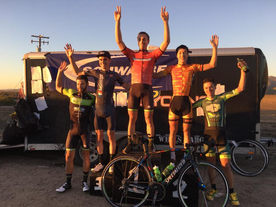 Eric Bryan on the podium in 3rd place in the Mens P12 race at the Santa Barbara Road Race!