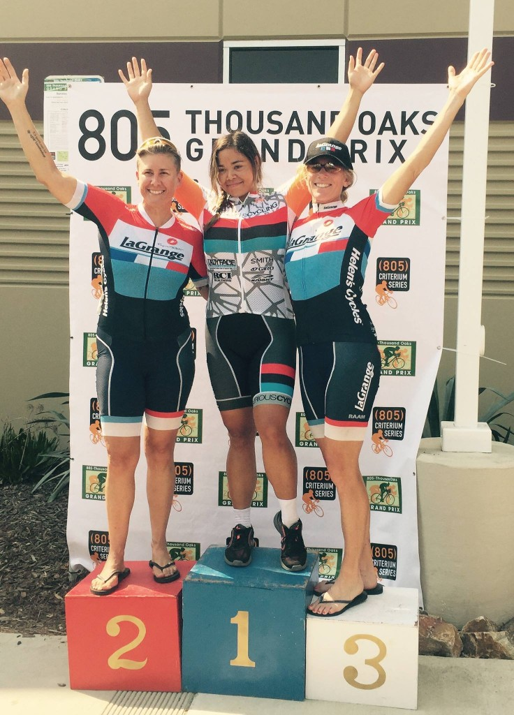 Danielle and Tracy bookended the podium at the 805 Thousand Oaks Criterium!