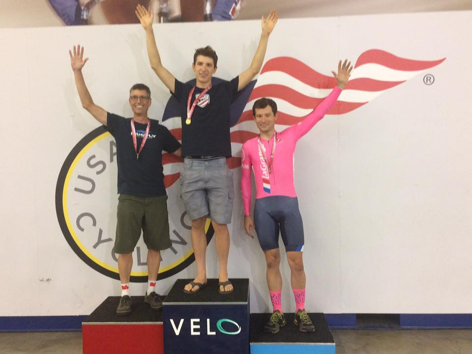 Zach LaBry takes third in the 4K Individual Pursuit at Elite Track State Championships, missing 2nd by just half a second!!