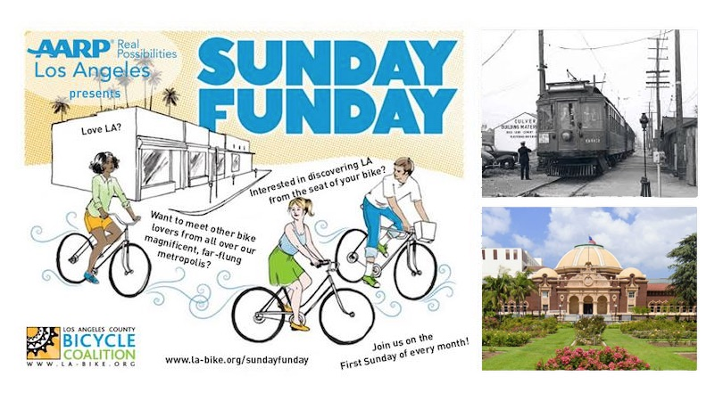 Join #TeamLACBC for our November Sunday Funday from as we learn about history along the Expo Line from the Natural History Museum to Cheviot Hills from local expert Jonathan Weiss and ride leader Wayne Howard.  This area has a rich transportation history which spans over one hundred years which Jonathan has chronicled on  CheviotHillsHistory.org .  The ride has varying lengths depending on whether you choose to return via Expo Rail.   Ride Mileage:  11 miles / 13 miles / 20 miles   (you may return to the Natural History Museum via the Expo Line on the 11 or 13 mile routes)   Parking: $12 at Exposition Park, free street parking a few blocks away  Meet at 9:30 a.m. Roll at 10:00 a.m.  Sunday Funday Rides are free and open to LACBC members plus one guest.