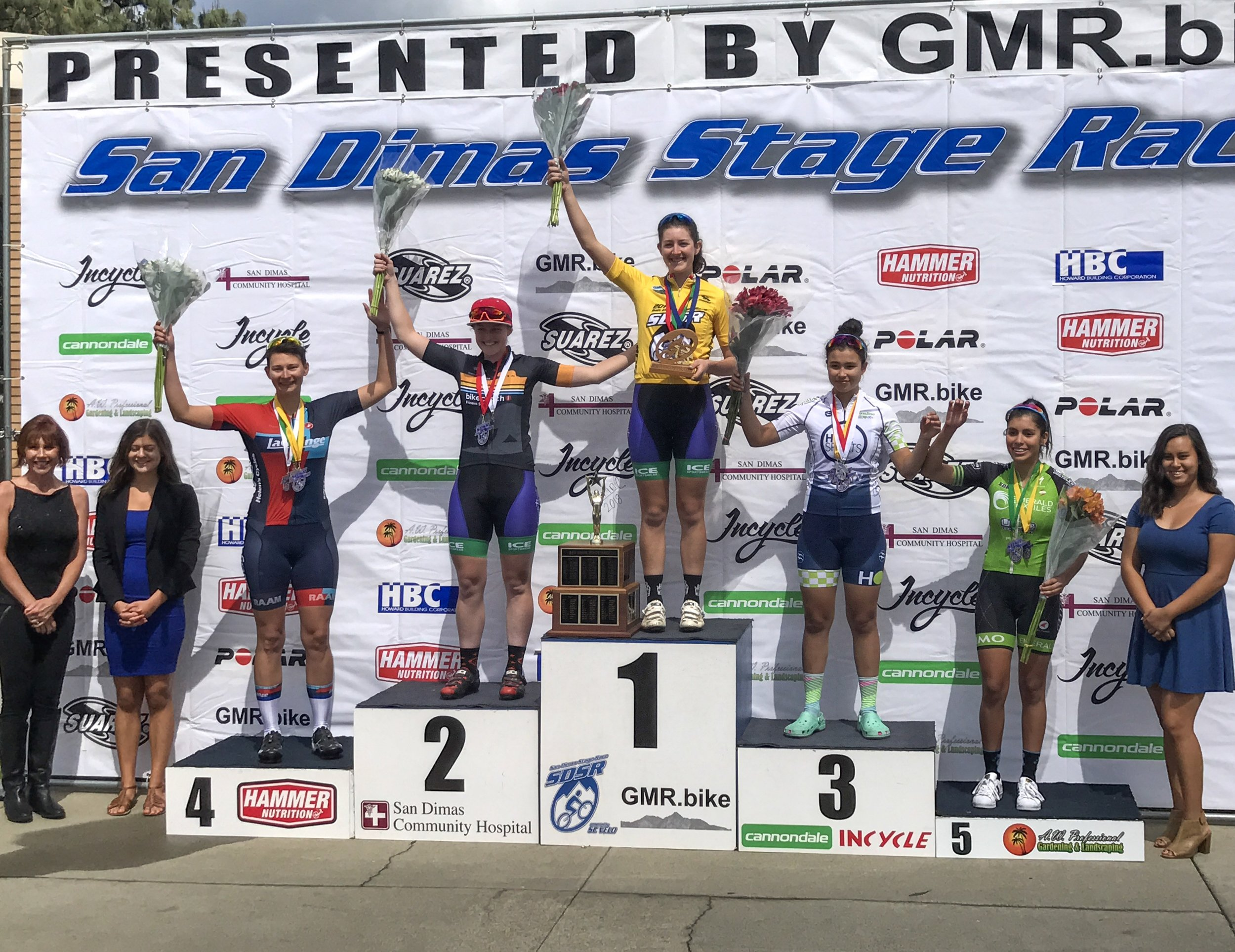 After placing 5th in the TT, 3rd in the road race and 4th in the crit, Tina Grant earned 4th overall in the W Cat 4 GC
