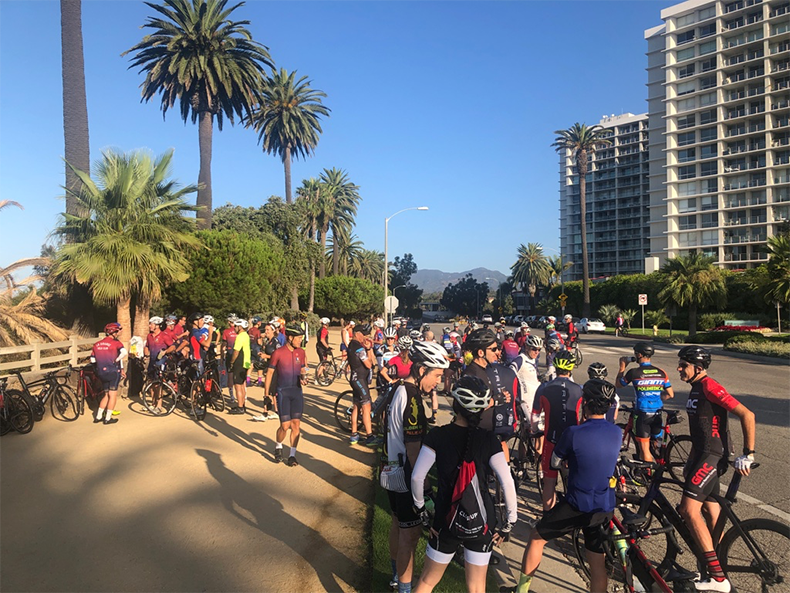 Another great turn out for the August 50 for 50 ride!