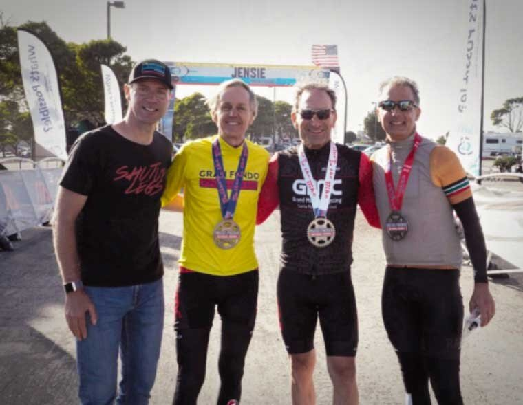 Jens Voigt, Tom Hill 1st place, Finn Cappe 3rd place, and David Leece 2nd place.