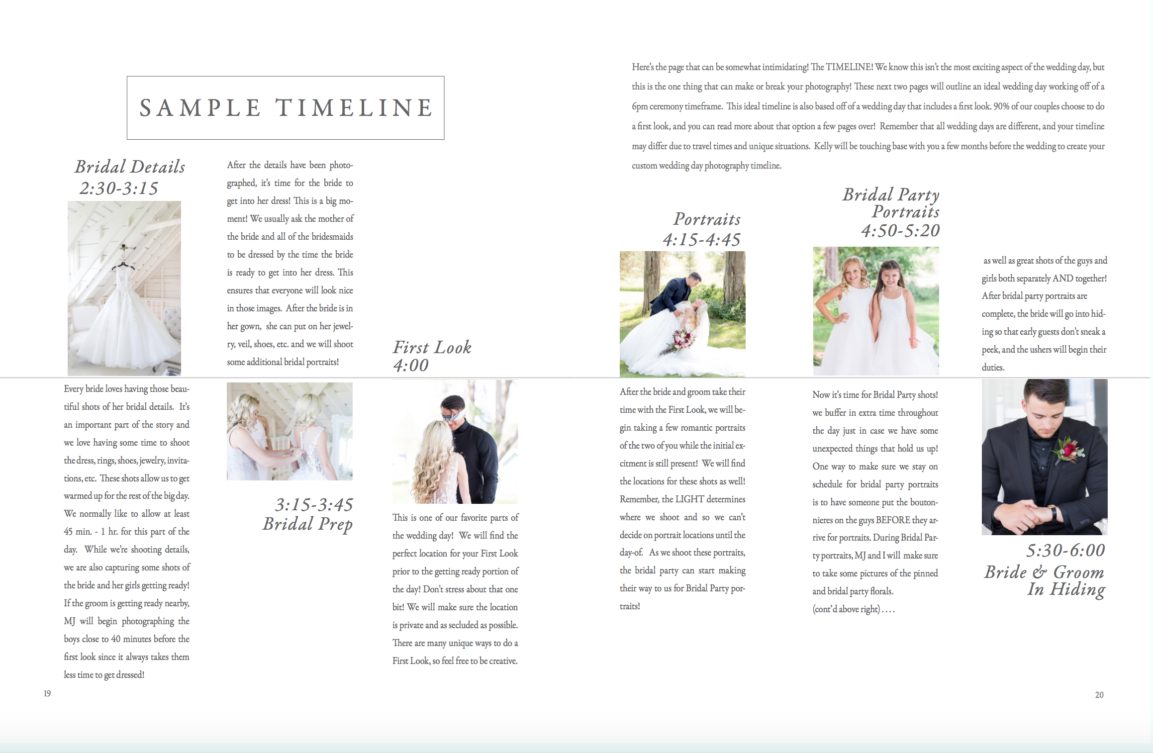 How to plan your wedding day timeline