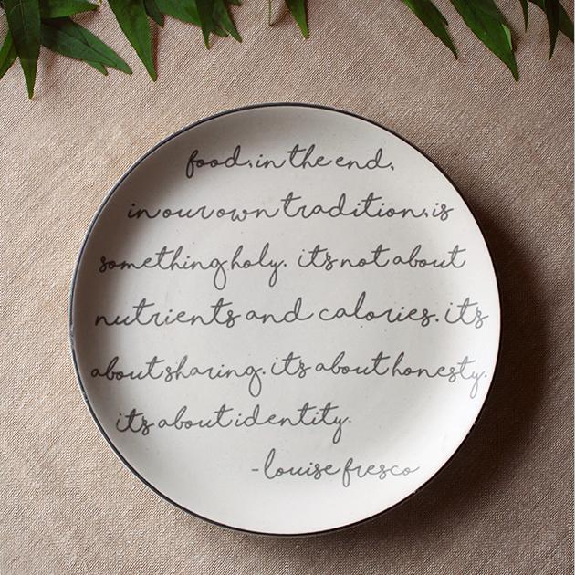 Food Script Dinner Plate
